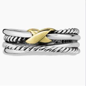 David Yurman X crossover ring size 7